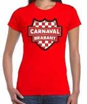 Carnaval verkleed t-shirt brabant rood voor voor dames trend