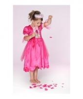 Carnaval verkleedkleding prinses fuchsiaroze meisjes trend