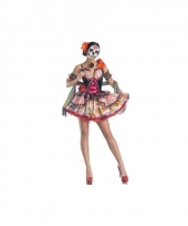 Carnavalskleding day of the dead senorita jurk trend