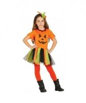 Carnavalskleding oranje pompoen jurkje voor meisjes trend