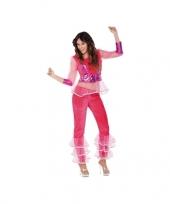 Carnavalskostuum disco roze voor dames trend