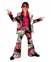 Carnavalskostuum flower power kids trend