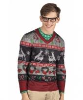 Carnavalskostuum kerst heren shirt trend