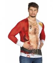 Carnavalskostuum kerstman heren shirt trend