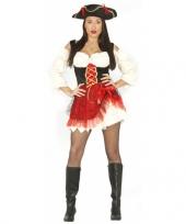 Carnavalskostuum piratenjurkje rood trend