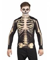 Carnavalskostuum skelet heren shirt trend
