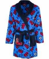 Cars fleece badjas blauw voor jongens trend