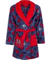 Cars fleece badjas rood blauw voor jongens trend