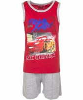 Cars korte pyjama rood met grijs trend