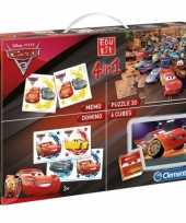 Cars puzzel en speel box 4 in 1 trend