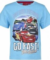 Cars t-shirt lichtblauw voor jongens trend