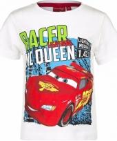 Cars t-shirt wit voor jongens trend