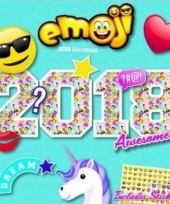 Cartoon maandkalender emoji 2018 trend