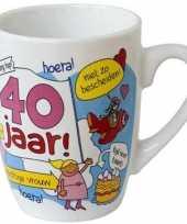 Cartoon mok 40 jaar vrouw trend