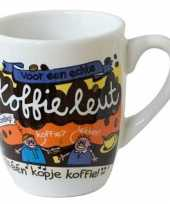 Cartoon mok koffieleut trend