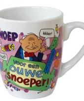Cartoon mok ouwe snoeper trend