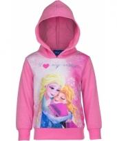 Cartoon sweater frozen roze trend
