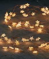 Cascade draadverlichting 40 witte lampjes op batterij trend
