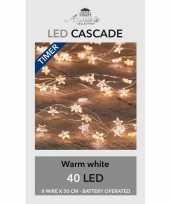 Cascade draadverlichting met timer 40 lampjes warm wit 8x 50 cm trend