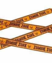 Caution decoratielint oranje 6 meter trend