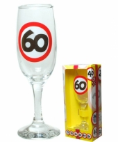 Champagneglas 60 jaar cadeauset trend