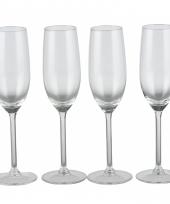 Champagneglazen 4 stuks 21cl trend