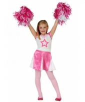Cheerleader jurkjes roze met wit trend