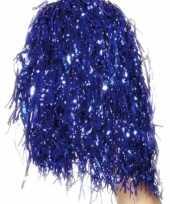 Cheerleader pompoms blauw trend