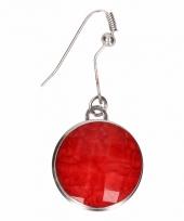 Chunk oorbelletjes rode steen voor volwassenen trend