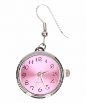 Chunk oorbelletjes roze klok voor volwassenen trend