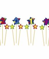 Cijfer 2017 prikker kaars met sterren trend