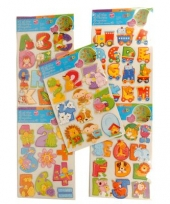 Cijfer 3d stickers van diertjes trend