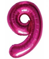 Cijfer 9 ballon roze 86 cm trend