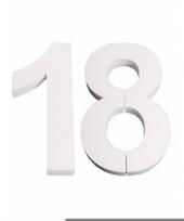 Cijfer drie van piepschuim 25 cm trend 10078561
