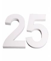 Cijfer drie van piepschuim 25 cm trend 10078580