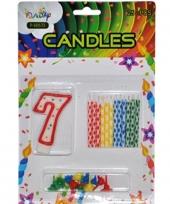 Cijfer kaarsen rood nummer 7 trend