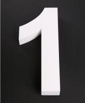 Cijfer n van piepschuim 25 cm trend