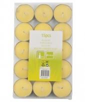 Citronella theelichten 15 stuks trend