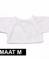 Clothies knuffel kado shirt m wit met ruimte voor tekst trend