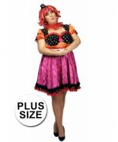 Clown carnavalskostuum voor dames in een grote maat trend