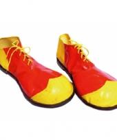 Clown schoenen geel met rood trend