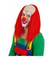 Clowns pruiken met rood haar trend