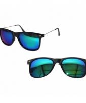 Clubmaster zonnebril met spiegel glazen trend