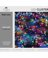 Clusterverlichting met timer 768 lampjes gekleurd 4 5 m trend
