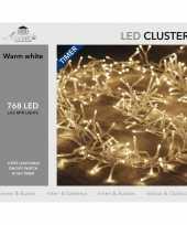 Clusterverlichting met timer 768 lampjes warm wit 4 5 m trend
