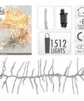 Clusterverlichting warm wit buiten 1512 lampjes trend 10105210