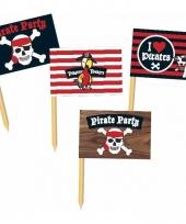 Cocktail prikkers met piraten trend