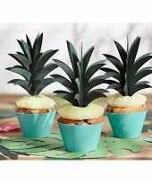 Cocktailprikkers ananas bladeren 6 stuks trend