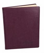 Cognac bruin notitieboek 27 cm trend 10093334