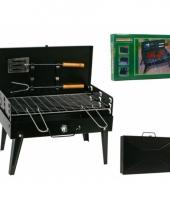 Compacte barbecue met accessoires 43 x 26 cm trend